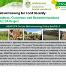 Gender Mainstreaming for Food Security: Good Practices, Outcomes and Recommendations from SIMLESA Projec