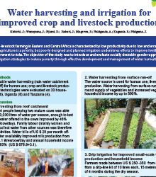 Water harvesting and irrigation for improved crop and livestock production