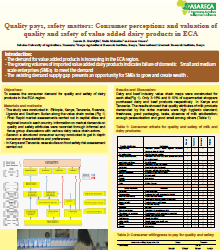 Consumer perceptions and valuation of quality and safety of value added dairy products in ECA