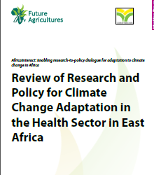 Review of Research and Policy for Climate Change Adaptation in the Health Sector in East Africa