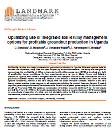 Optimizing use of integrated soil fertility management options for profitable groundnut production in Uganda