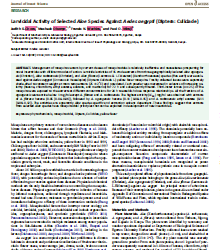 Larvicidal Activity of Selected Aloe Species Against Aedes aegypti (Diptera: Culiciade) Judith K. Chore,1 Meshack Obonyo,1,2 Francis N.Wachira,1 and Paul O. Mireji3